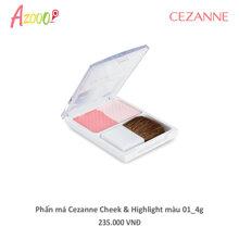 Phấn má Cezanne Cheek & Highlight màu 01 4g_40026