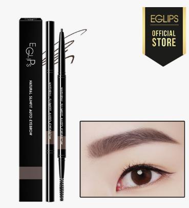 Kẻ chân mày lâu trôi Eglips Natural Slimfit Auto Eyebrow - 01 Gray Brown Màu nâu xám