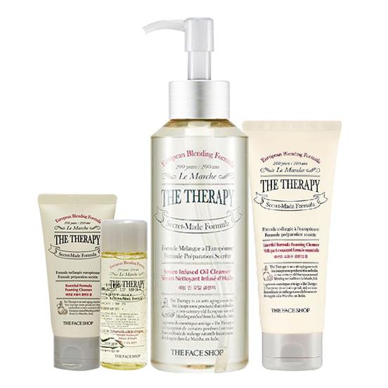 Bộ sản phẩm làm sạch chống lão hóa TheFaceShop Therapy
