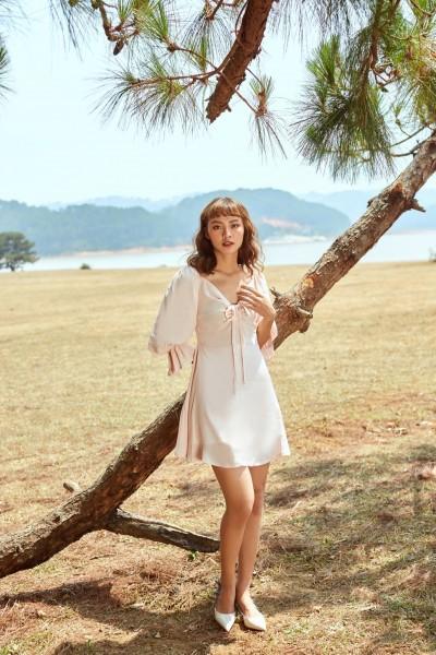 Đầm hồng rút ngực - MistyRose Dress
