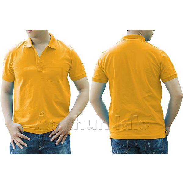 Áo thun cổ trụ có túi - Màu vàng đậm/ vàng nghệ