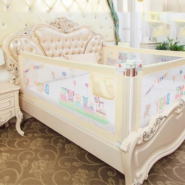 Thanh chắn giường mẫu 2019 cao cấp Babyqiner BQ-02 - 1M8 - Kem trượt lên xuống Giá 1 thanh
