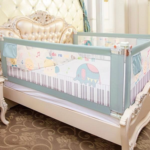 Thanh chắn giường mẫu 2019 cao cấp Babyqiner BQ-02 - 1M8 - Xanh trượt lên xuống Giá 1 thanh