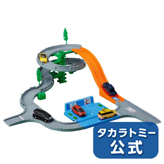 Bộ mô hình đường đua leo núi xe Tomica Kimitaita 2018 tặng kèm xe Mazda Roadster