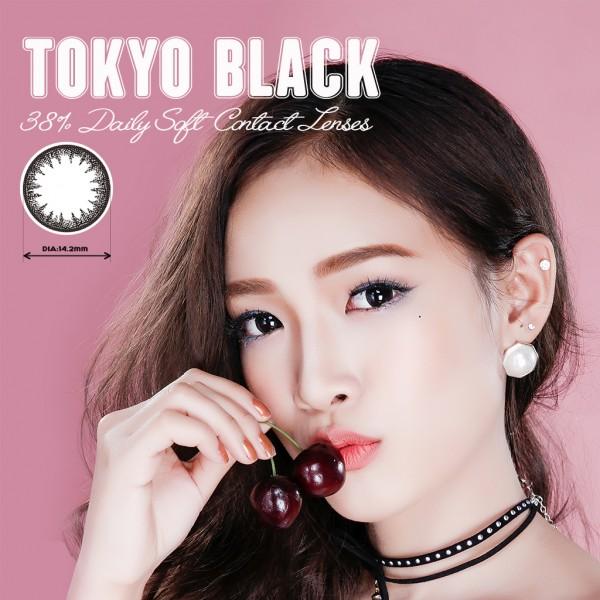 Kính áp tròng dùng 1 ngày Eye Secret màu Tokyo Black