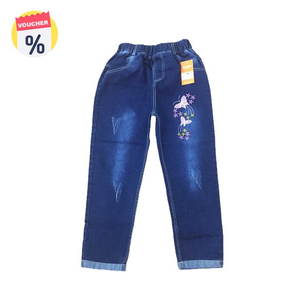 Mua ngay Voucher chỉ với 99.000 VND Mẹ sắm cho bé chiếc Quần jeans bé gái thêu bướm (sz từ 6-9 tuổi) của Vinakids (Giá niêm yết: 159.000 VND)
