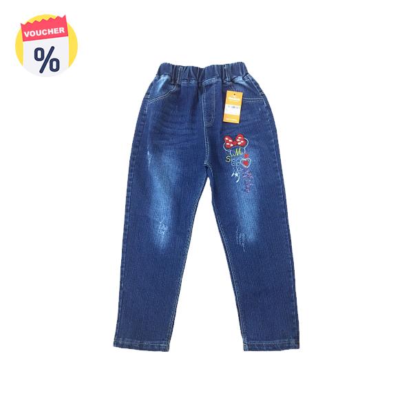 Mua ngay Voucher chỉ với 99.000 VND Mẹ sắm cho bé chiếc Quần Jeans dài bé gái thêu Mickey (sz từ 4-6 tuổi) của Vinakids (Giá niêm yết: 149.000 VND)