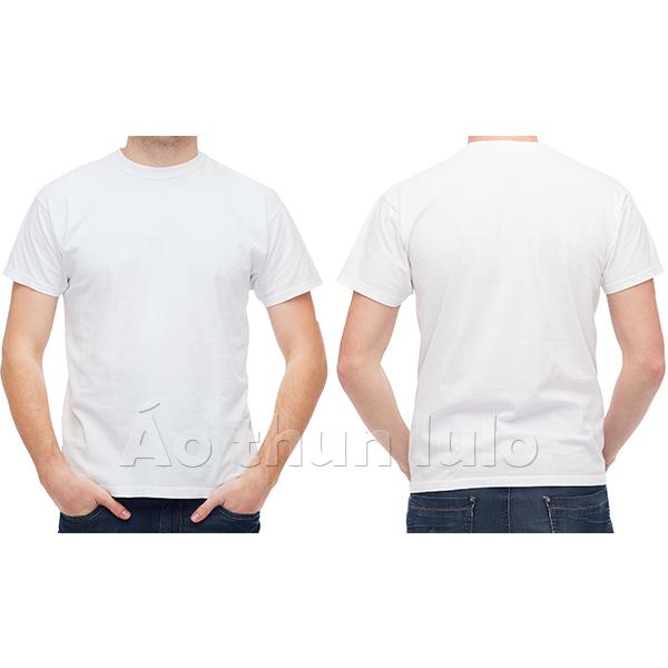 Áo thun cổ tròn - Màu trắng
