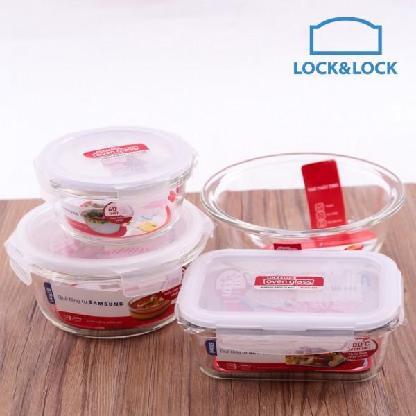 Bộ 4 Món Thủy Tinh Cao Cấp Lock&Lock Samsung LLG855S4SS