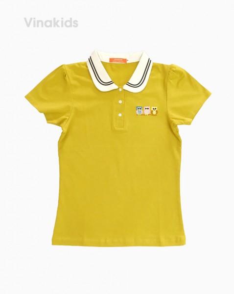 Áo thun bé gái hình cú mèo màu vàng (7 tuổi đến 12 tuổi)