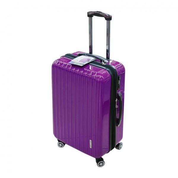Vali du lịch Lock&Lock Travel Zone LTZ995DPTSA 24 inch khóa TSA màu tím đậm Hàng chính hãng
