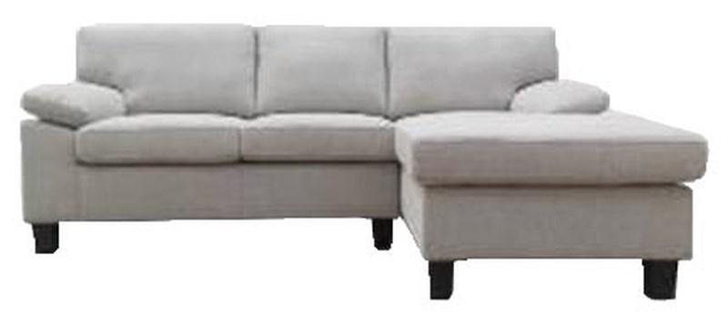 Sofa góc LORETO, vải polyester màu vàng cát; 211x85x84/141cm ; BASIC
