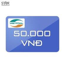 Thẻ điện thoại Viettel mệnh giá 50.000