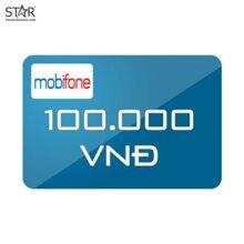Thẻ điện thoại Mobifone mệnh giá 100.000