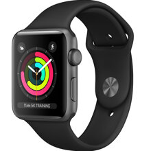 APPLE WATCH SERIES 3 42MM SPACE GREY - BLACK SPORT BAND