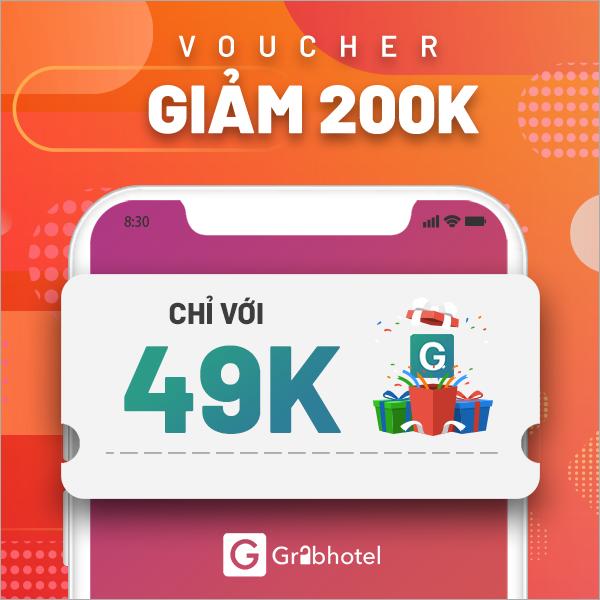 Voucher giảm 200k - GrabHotel