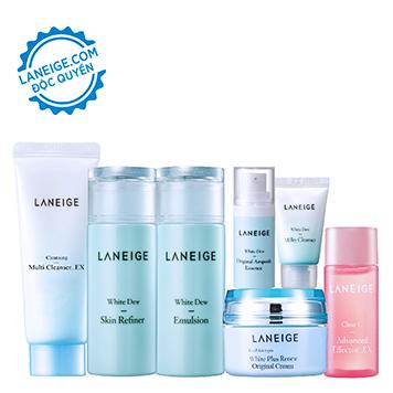 Bộ dưỡng trắng mini ban đêm Laneige White Dew Night Care