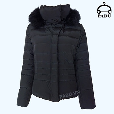 Áo khoác lông vũ có mũ màu đen size XL CN18KW01-D-XL