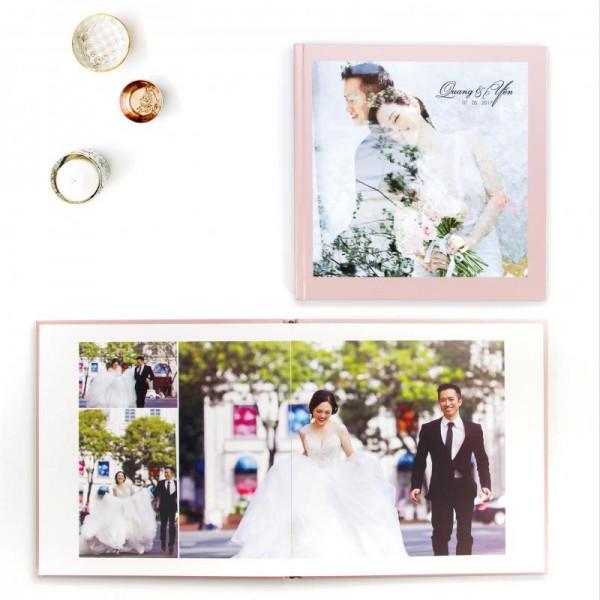 Photobook Mở Phẳng Bìa Hình - Vuông - Size: 12x12cm
