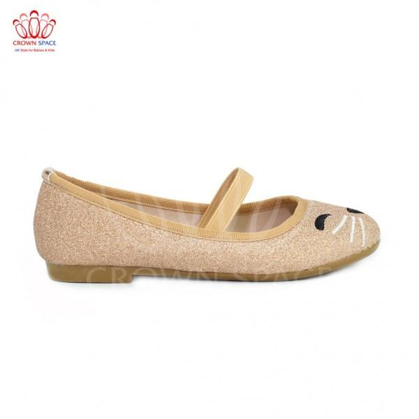 Giày búp bê bé gái Crown UK Basic Ballerina CB3015