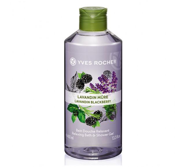 Gel Tắm Yves Rocher Dưỡng Da Hương Lavender 400ml Relaxing Bath & Shower Gel