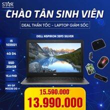 [Khuyến Mãi] Laptop Dell Inspiron 3593 70205744 : I5 1035G1, VGA MX230 2G, Ram 4G, SSD NVMe 256G, DVD RW, Win10, 15.6''FHD (Bạc)