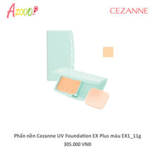Phấn nền Cezanne UV Foundation EX Plus màu EX1_11g