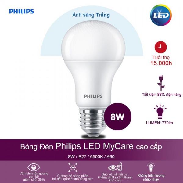 Bóng đèn Philips LED 8W Ánh sáng trắng
