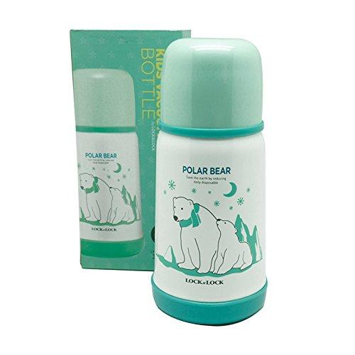 Bình Giữ Nhiệt Cho Bé Lock&Lock Kids Hot&Cool Polar Bear LHC1400-G 310ml