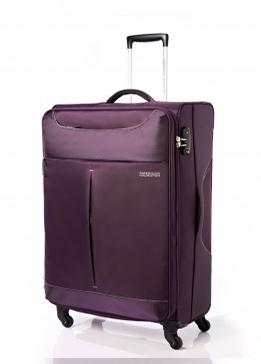 Vali vải American Tourister 25R*81001 Sky TSA - Size Cabin 55/20 - Màu Tím