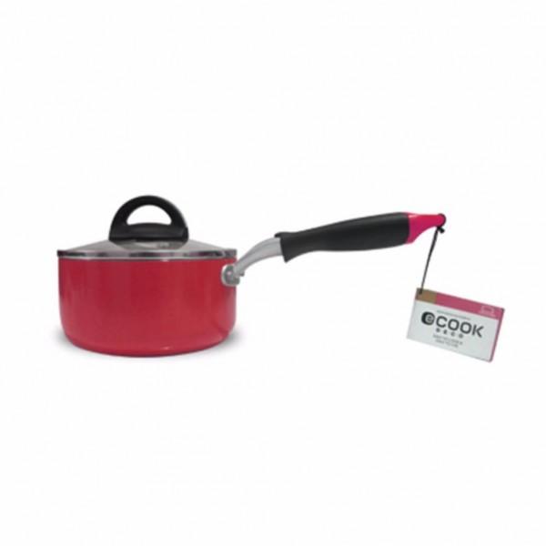 Nồi quánh E-Cook Deco Lock&Lock 16cm LED2161R-IH dùng bếp từ Đỏ