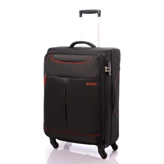 Vali vải American Tourister 25R*39001 Sky TSA - Size Cabin 55/20 - Màu Đen phối đỏ