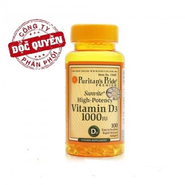 Viên uống bổ sung Vitamin D tăng cường hệ miễn dịch, phòng chống còi xương 100 viên