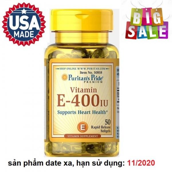Viên uống bổ sung Vitamin E giúp đẹp da, chống lão hóa, hỗ trợ hệ tim mạch 50 viên