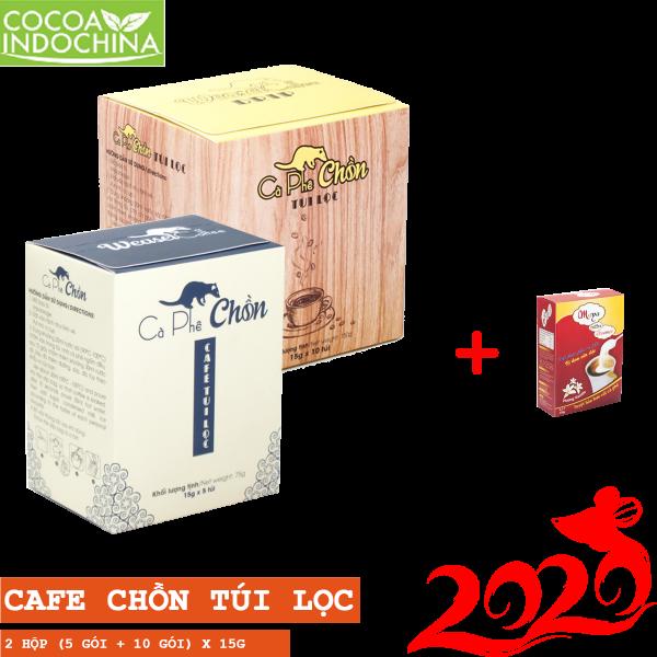 Combo: Cà phê chồn túi lọc + 2 hộp Bột kem pha cà phê