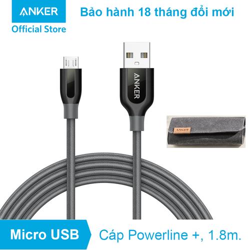 Cáp sạc ANKER PowerLine+ Micro USB - Dài 1.8m - A8143