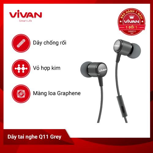 Tai Nghe Nhét Tai Ear Buds VIVAN Q11 Jack 3.5mm
