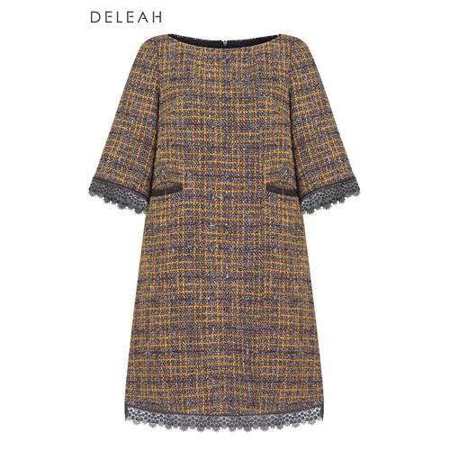 De Leah - Đầm Suông A tweed Can Ren - Thời trang thiết kế - VL1825122Dvx