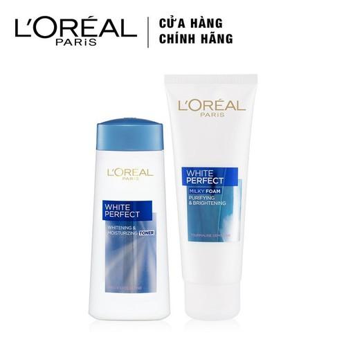 Bộ Sữa Rửa Mặt Và Nước Hoa Hồng L'Oréal Paris White Perfect - 8992304000584