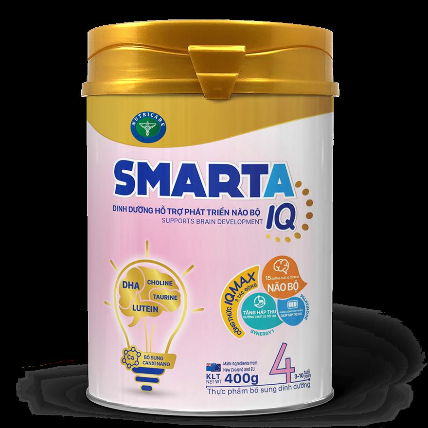Sữa bột SmartA IQ 4 hỗ trợ phát triển não bộ & dinh dưỡng cho bé 3-10 400gr